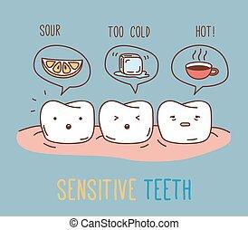 Comics about sensitive teeth.