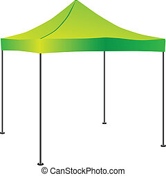 Tent for use in commercial activities. Vector illustration.