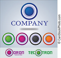 Company logo design, target circle