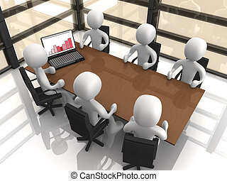 Computer Generated Image - Comapny Meeting .