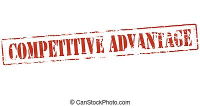 Rubber stamp with text competitive advantage inside, vector illustration