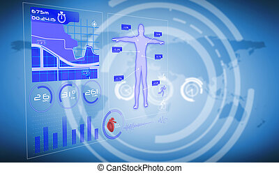 Composite image of medical interface