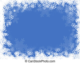 composition of a snow background illustration