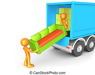 Computer generated image - Moving Company .