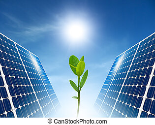 Concept of solar panel for green renewable energy.