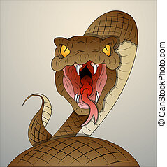 Conceptual Design Art of Snake Vector Illustration