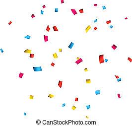 Confetti celebration background.