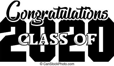 Congratulations Class of 2020 Banner BW