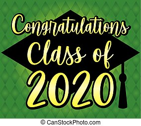 Congratulations Class of 2020 Green and Yellow Banner