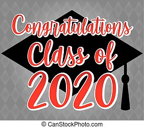 Congratulations Class of 2020 Red and Gray Banner