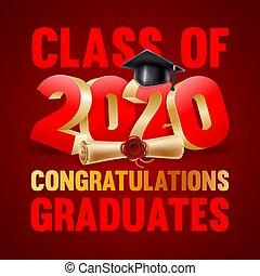 Congratulations Graduates Emblem Design
