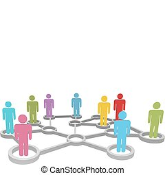 Connect diverse people business or social network