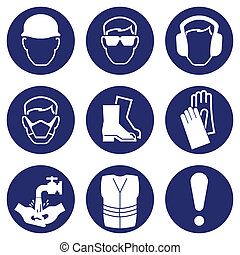 Construction Industry Health and Safety Icons