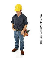Construction Worker Depressed