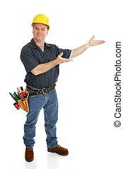 Construction Worker Presents