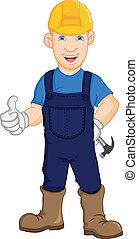 Construction worker repairman illustration