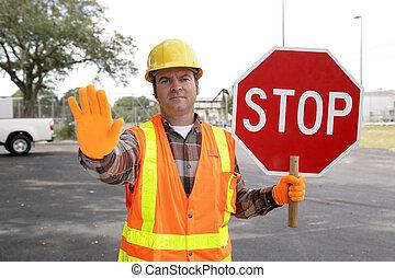 Construction Worker Stop