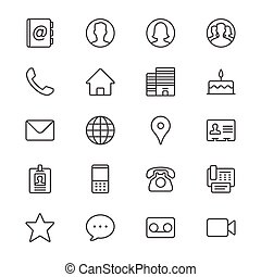 Simple vector icons. Clear and sharp. Easy to resize.