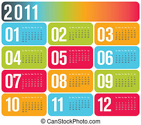 Contemporary design calendar 2011
