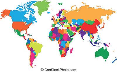 Corolful world map