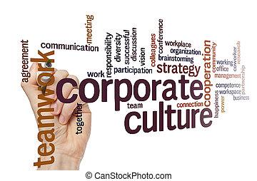 Corporate culture word cloud concept