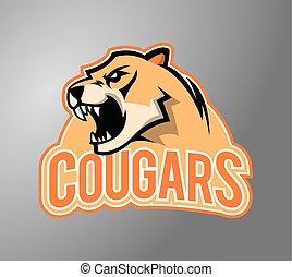 Cougar head illustration