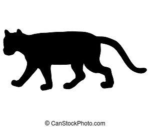 Cougar silhouette
