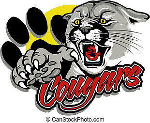 cougar with claw