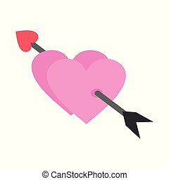 Couple Cupid Love Heart Vector Illustration Graphic