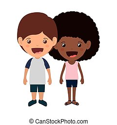 couple of kids smiling