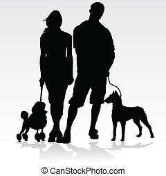 couple with their pets