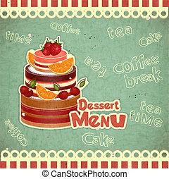 Cover retro dessert Menu