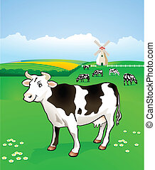 Cow in the past