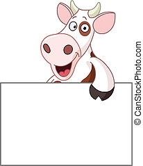 Cow with sign