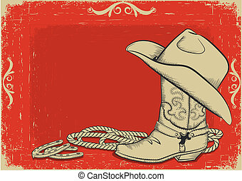 Red American western background