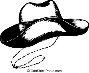 Cowboy hat on white. Vector graphic illustration