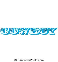 Cowboy Sign Vector Clip Art Graphic
