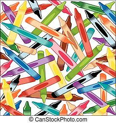 Crayons Background Square