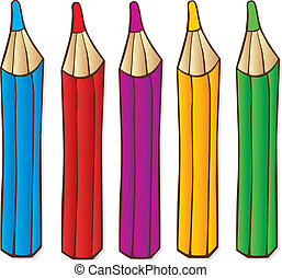 illustration of color crayons