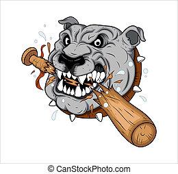Dog Mascot Tattoo Vector