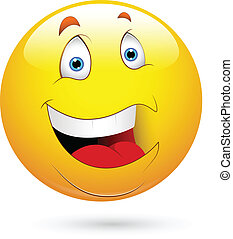 Creative Abstract Conceptual Design Art of Laughing Smiley Face Vector