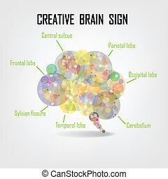 Creative brain Idea concept background design for poster flyer cover brochure ,business dea ,abstract background. vector illustration