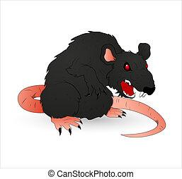 Creative Conceptual Design Art of Halloween Creepy Rat Vector Illustration