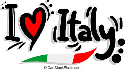 Creative design of I love italy