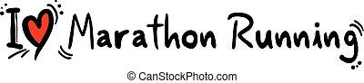 Marathon Running love