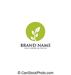 Creative leaf logo design vector