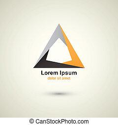 creative technology vector abstract triangle logo template