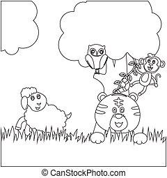 Creative vector childish Illustration.