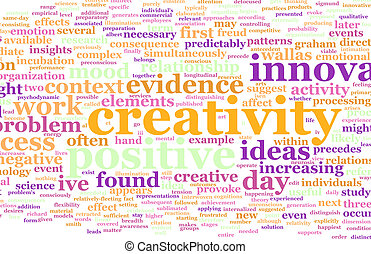 Creativity as a Text Cloud Abstract Background Art