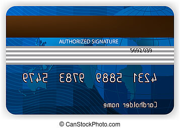 Credit cards, back view. EPS 8